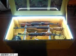 shipping crate coffee table armslist for sale trade ak sks military shipping crate gun