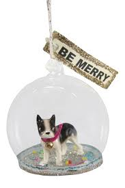 bulldog globe decorations ornaments tree