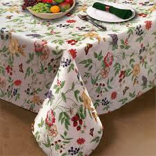 enchanted garden vinyl tablecloth or placemat bedbathhome