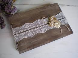 Shabby Chic Wedding Guest Book by Wooden Guestbook Or Photo Album Rustic Wedding Guest Book Wood