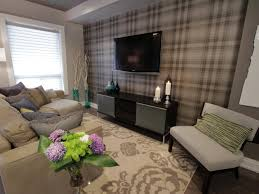 wallpaper accent wall for living room with nice modern style