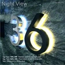 light up address sign light up house numbers pertaining to illuminated prepare light up