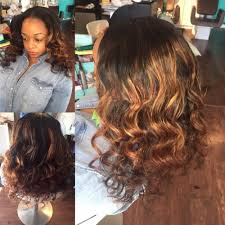 partial weave middle part leave out hairby the luxuryvault body