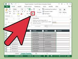 Converting Pdf To Excel Spreadsheet 3 Ways To Create A Timeline In Excel Wikihow