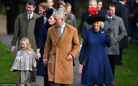 prince philip charles and harry out for church