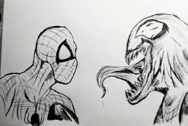 spiderman vs venom drawing marsuvees 2017 sep 21 2014