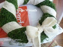 Reath Design Easy Diy Moss And Burlap Wreath