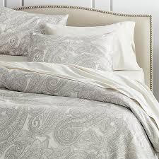 Duvet Covrs Mariella Cream Grey Duvet Covers And Pillow Shams Crate And Barrel