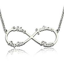 personalized necklace 925 sterling silver necklace infinity 4 names necklace endless