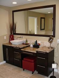 Recessed Bathroom Vanity by Bathroom Double Bathroom Vanity With Makeup Table With Padded