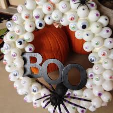 How To Make Halloween Wreaths by Halloween Eyes Boo Wreath U2013 Easy Diy Keep It Simple Summer