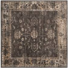 8 Foot Square Rug by Safavieh Vintage Soft Anthracite 8 Ft X 8 Ft Square Area Rug