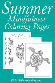 mindfulness coloring pages summer mindfulness coloring pages