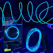 led el wire string lights blue el wire lighting sureglow