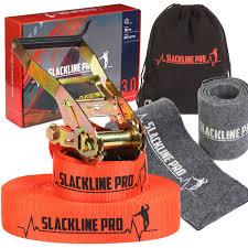 amazon com slackline kit 52 foot classic trickline slackline