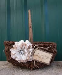 Basket For Wedding Programs Program Box Program Basket Rustic Wedding Basket Wedding
