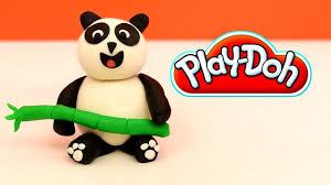 play doh panda bear how to make panda bear playdoh easy step by