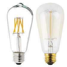 Led Light Bulb Dimmable by St18 Led Filament Bulb 55 Watt Equivalent Vintage Light Bulb