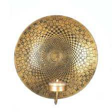 Tealight Wall Sconce Geometric Golden Plate Wall Sconce Wholesale At Koehler Home Decor