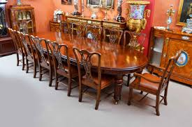antique victorian dining table u0026 12 chippendale chairs