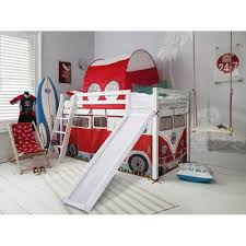 Campervan Cabin Bed With Slide Tent  Tunnel Noa  Nani - Mid sleeper bunk bed