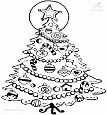 christmas tree pictures color kids coloring