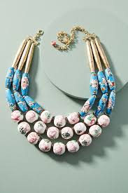 bib necklace beaded images Painted beads bib necklace anthropologie