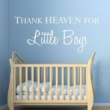 Boy Nursery Wall Decal Baby Boy Nursery Quotes Wall Stickers Thank Heaven For Boy