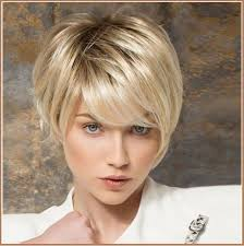 midway to short haircut styles ash blonde short straight hair with long bangs pixie style cut