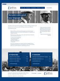 ethos rs website re design blue house design