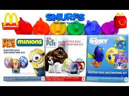 Easter Egg Decorating Kit Australia by Easter Egg Coloring 2017 Mcdonald U0027s Smurfs Happy Meal Toys Secret