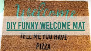 diy funny welcome mat youtube