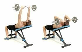 how to do the incline ez bar skullcrusher men u0027s health