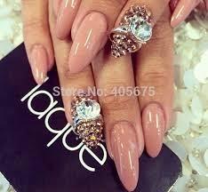 5pcs nail art rings glitter square strass rhinestones nails