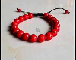 red beads bracelet images Red bead bracelet etsy jpg