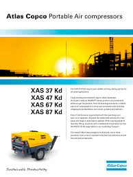 series 7 xas 67 87 atlas copco compresores pdf catalogue
