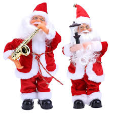 decorations for home singing santa claus electric