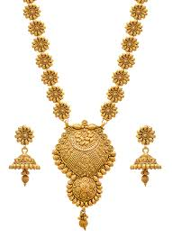 gold necklace set jewellery images Buy jfl jewellery for less golden one gram gold plated necklace jpg
