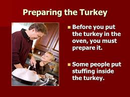 turkey for thanksgiving family dinner checking the recipe most
