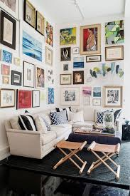 Gallery Wall In  Contemporary Living Room Designs Rilane - Living room design photos gallery