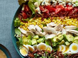 southern cobb salad with roasted sweet onion dressing recipe