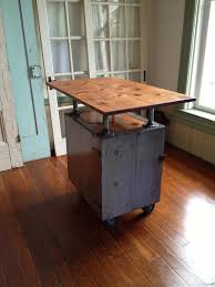 kitchen islands on casters reclaimed wood industrial kitchen island on casters bar