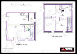 plan de maison 100m2 3 chambres maison 100m2 4 chambres etage