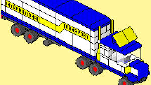 pixel art car lego instructions pixel art movie 6367 semi truck youtube