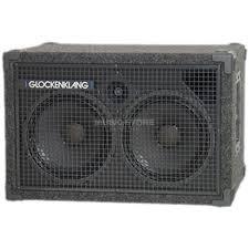 8 ohm bass speaker cabinet glockenklang duo light box 8 ohm 400 watt 2x10 speaker horn