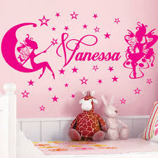 popular fairy wall decals buy cheap fairy wall decals lots from customer made fairies stars personalized name personal stickers nursery vinyl wall decals decor