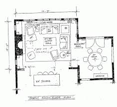 Open Floor Plan Kitchen Family Room by Family Room Floor Plan With Others Kitchen Open Inspirations Plans