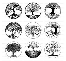 tree of life black and white tree clipart digital download