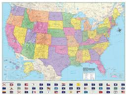 map of us states poster hammond united states us usa wall map and mural poster