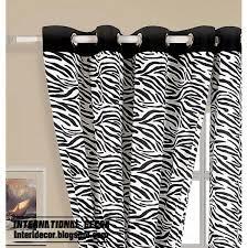 Zebra Print Curtain Panels Zebra Print Curtain Beautifuldesignns Zebra Print Curtains